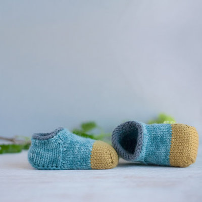 'Noah' Baby Shoe Knitting Pattern